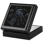 Masonic Fantasy Blue Keepsake Box