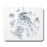 Masonic Fantasy Blue Mousepad