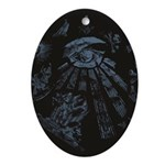 Masonic Fantasy Blue Ornament (Oval)