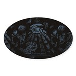 Masonic Fantasy Blue Sticker (Oval 50 pk)
