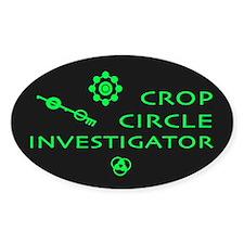 Crop Circle Investigator Dark Oval Decal