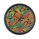 Dog Treats Large Wall Clock