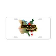 I Survived Sandy Aluminum License Plate