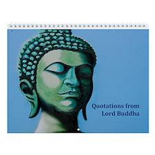 Buddha Spiritual Saying Wall Calendar