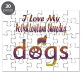 Polish Lowland Sheepdog designs Puzzle