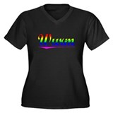 Wurm, Rainbow, Women's Plus Size V-Neck Dark T-Shi