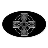 celtic cross Oval  Aufkleber