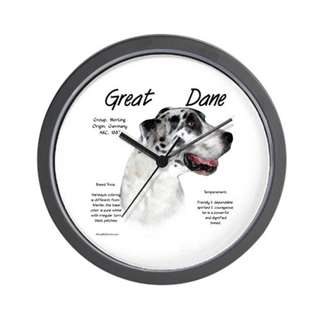 Harlequin Great Dane Wall Clock