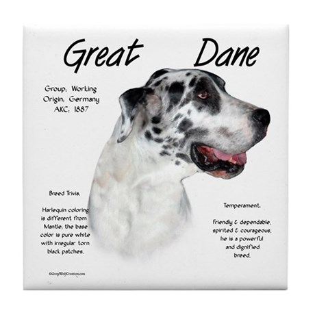 Harlequin Great Dane Tile Coaster