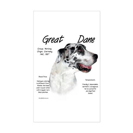 Harlequin Great Dane Rectangle Sticker