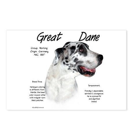 Harlequin Great Dane Postcards (Package of 8)