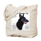 Black GSD Tote Bag