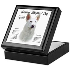 White GSD Keepsake Box