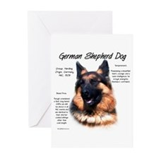Longhair GSD Greeting Cards (Pk of 10)