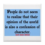 EMERSON - CHARACTOR QUOTE Tile Coaster
