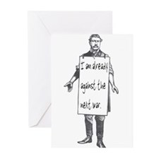 Already against the next war Greeting Cards (Packa