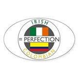 Irish Colombian heritage flag Decal