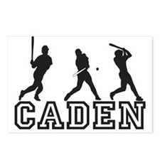 Baseball Caden Personalized Postcards (Package of