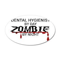 Dental Hygienist Zombie 20x12 Oval Wall Decal