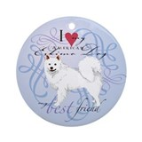 American Eskimo Ornament (Round)