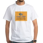 Shark's White T-Shirt w/Gold Logo