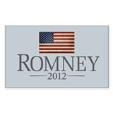 Romney USA Flag Designs Decal Decal
