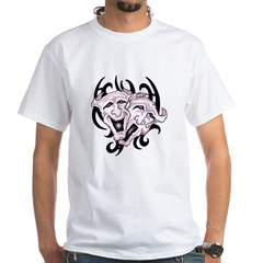 Comedy and Tragedy White T-Shirt