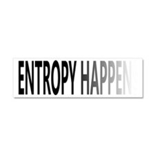 Entropy Happens Fade Car Magnet 10 x 3