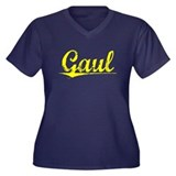 Gaul, Yellow Women's Plus Size V-Neck Dark T-Shirt