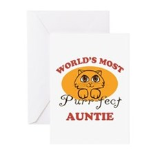 One Purrfect Auntie Greeting Cards (Pk of 10)
