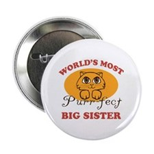 "One Purrfect Big Sister 2.25"" Button (10 pack)"