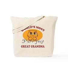 One Purrfect Great Grandma Tote Bag