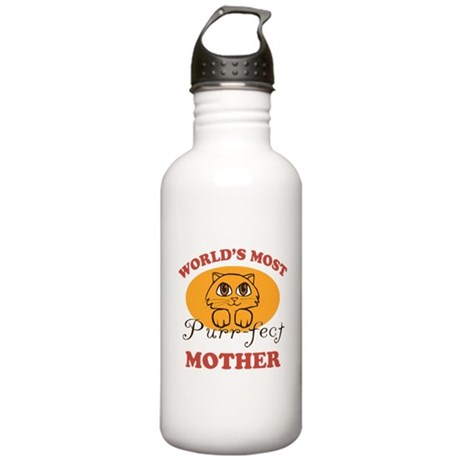 One Purrfect Mother Stainless Water Bottle 1.0L