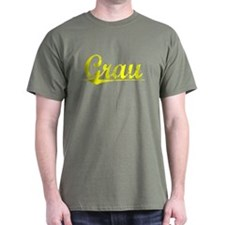 Grau, Yellow T-Shirt