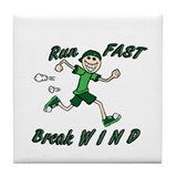 Run Fast Tile Coaster