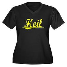 Heil, Yellow Women's Plus Size V-Neck Dark T-Shirt