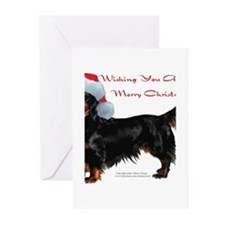 Unique Dachshund santa Greeting Cards (Pk of 20)