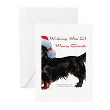 Funny Dachshund santa Greeting Cards (Pk of 20)