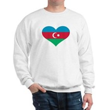 Azerbaijan flag heart Sweatshirt