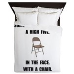 High Five Chair Queen Duvet