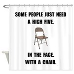 High Five Chair Shower Curtain
