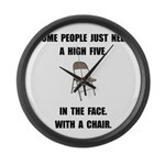 High Five Chair Large Wall Clock