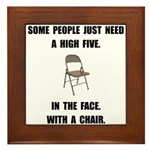 High Five Chair Framed Tile