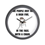 High Five Chair Wall Clock