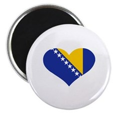 "Bosnia and Herzegovina flag heart 2.25"" Magnet (10"