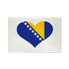 Bosnia and Herzegovina flag heart Rectangle Magnet