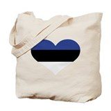 Estonia flag heart Tote Bag