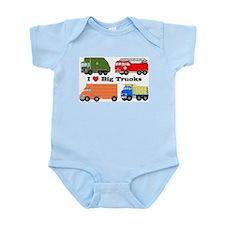 I Heart Big Trucks Infant Bodysuit