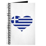 Greece flag heart Journal