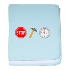 Stop Hammer Time baby blanket